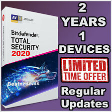BITDEFENDER TOTAL SECURITY 2020 - 2 YEARS ACTIVATION - DOWNLOAD