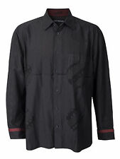 Men's ISSEY MIYAKE Button Up Down Shirt Runway Wild Rare Designer Graphic Japan