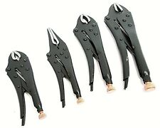 Mole Grips Locking Pliers Vice Clamp Plier Grip Curved Straight Jaw Set WR132