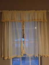 Vintage Sears 70s Bohemian Curtains Gypsy Decor Camper Curtains Airstream Retro