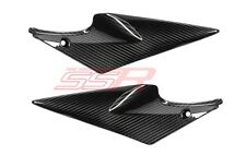 Suzuki GSXR600/GSXR750 100% Twill Under Tank/Seat Side Panel Covers Carbon Fiber