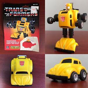 1984 VTG TRANSFORMERS Bumblebee 100% Original & Complete + Blister Card HASBRO