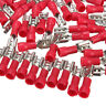 """100Pcs 22~16AWG Female Insulated Disconnect Wire Crimp Terminals Connector 0.19"""""""