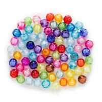Random Mixed Acrylic Pumpkin Shaped Spacer Beads Jewelry Making Findings 8-20mm