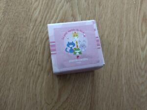 Spilla pinza portaciuccio coniglietto rosa in argento e smalti