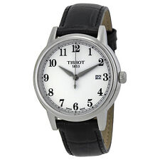 Tissot Carson White Dial Black Leather Mens Watch T0854101601200