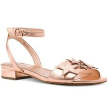 NIB Size 5.5 MICHAEL KORS LEXIE Soft Pink Sandals Metallic Leather Star