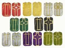 Chasuble Vestment Fiddleback Set Lot 6 @ Red, Green, White, Purple, Black, Gold
