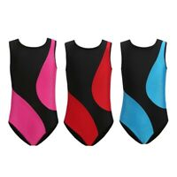 3-12T Kids Gymnastic Leotard Gym Dance Costume Body Suit Breathable Sports Tank