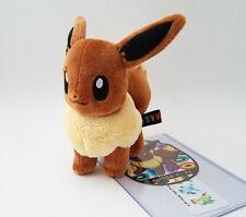 """Japanese Pokemon Center 6"""" Eevee plush doll 2012 standing"""