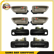 Door Handle 8PCS Set  For Toyota Camry 1997-2001 Outside Black & Inside Tan
