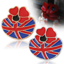 NEW Poppy Flower Enamel Remembrance Brooch Lapel Pin Broach Badge Banquet AU