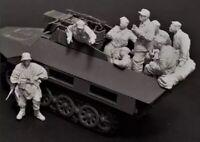 1/35 8pcs/set Resin Figure Model Kit German Soldier (no Car) WWII WW2 Unpainted