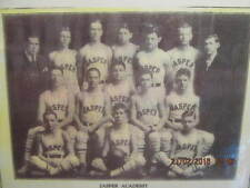 Vtg. Display Photo 1930 Jasper IN Academy Basketball Team 2nd in State Tourney