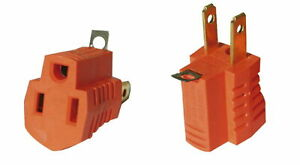 3 Prong to 2 Prong Grounding Adapters 2 Piece Outlet Electrical AC Converter