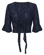 Womens Ladies Floral Vintage Lace Sequin Bolero Shiny Kimono Plus Size Shrug