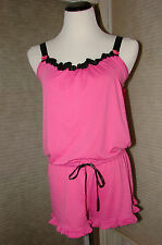 0198c417fd66 BETSEY JOHNSON PINK ROMPER  LOUNGE WEAR SIZE LG NWT ADORABLE!!!! HARD