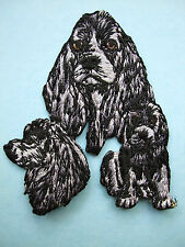 IRON-ON EMBROIDERED PATCH - COCKER SPANIEL - DOG