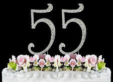 NEW Large Rhinestone  NUMBER (55) Cake Topper 55th Birthday Party Anniversary