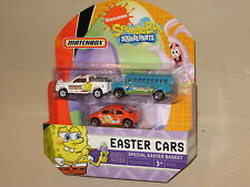 Matchbox SpongeBob School Bus Orange VW Bug New Beetle Easter 3 Pack VHTF NIP