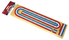 "15"" x 4"" CRIBBAGE GAME BOARD 3 PLAYER WITH PEGS NEW WITH DIRECTIONS - FREE S/H*"