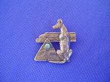 Pharaoh Hound Pyramid Pin #54E Pewter Egyptian Dog Jewelry by Cindy A. Conter