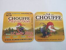 Beer COASTER ~*~ Brasserie D'ACHOUFFE >< La Chouffe Belgium Bier ~ 2011 Marathon