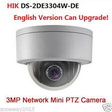 Hikvision DS-2DE3304W-DE 3MP DWDR Original P&P Mini 4X PTZ Dome Camera POE IP66