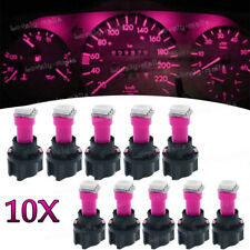 Instrument Panel LED Light Bulbs PC74 T5 Twist Lock Sockets Pink KIT For Ford