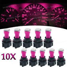 Instrument Panel LED Light Bulbs PC74 T5 Twist Lock Sockets Pink KIT For Ford
