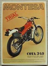MONTESA cota 349 folleto de ventas de la motocicleta 1979 #B.37006/79 inglés y francés Txt