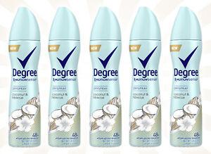5 Degree Coconut & Hibiscus 48-Hour Antiperspirant & Deodorant Dry Spray 3.8 OZ