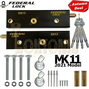 Federal Enfield Up And Over Garage Door Bolts Locks High Security Mk11 2021