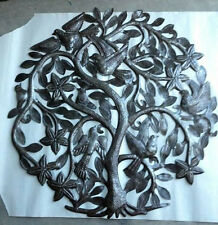 """Tree of Life with Birds and Flowers House Design Decoration Haitian Art Size 24"""""""