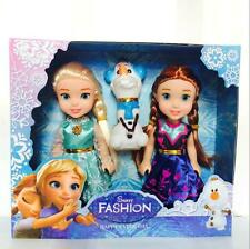 3 PCS hotsale-Playset Frozen Princess Elsa-Anna-Olaf Doll Figures Birthday Gift*