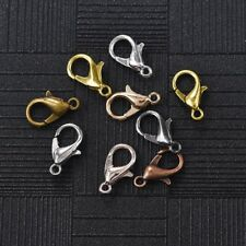 100pcs 7*12mm Metal Lobster Clasps Hooks Alloy Connector For DIY Jewelry Making