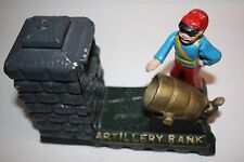 Vintage Cast Iron Artillery Bank (reproduction)