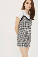 Topshop Size 6 Gingham Frill Romper Playsuit