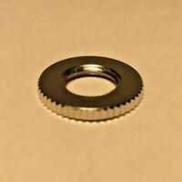 """New Nickel Plated Brass Knurled Locknut, 1/8 IP Threads, 3/4"""" O.D. #LN720N"""