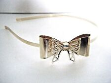 Women's Gold Tone Metal Headband With Bow Decoration New