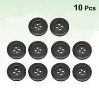 10pcs 50mm Round 4 Holes Wooden Wood Buttons Sewing Scrapbooking DIY Craft Brown