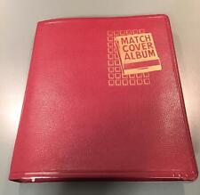 Vintage Beachcraft Match Cover Binder Album Includes 158 Match Books Collectors