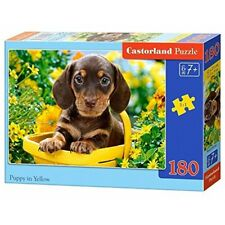 * Castorland Jigsaw Classic 180pc - Puppy In Yellow - Puzzle 180piece