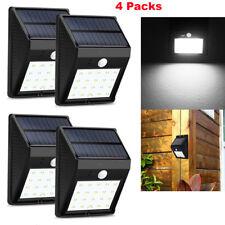 4x 20 LED Energía Solar Sensor De Movimiento PIR Lámpara de Seguridad Exterior De Jardín Luces De Pared
