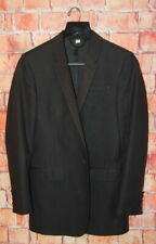 Mens 36 S Black Linen Burberry london Slim Fit Casual Tuxedo Blazer