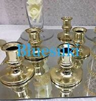 12 Plastic Acrylic Candle Holders for Taper Candles
