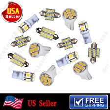 14PCS White LED Bulb Lights Interior Package for T10 192 & 31mm 578 Map Dome Kit