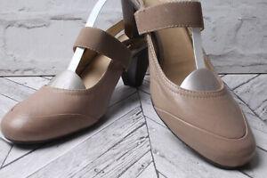 CLARKS Court Sandals Pumps RRP £99 Stone Beige Tan Summer Beach Party Heel 7 41