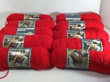 New Listing8 Skeins Vintage Lot Of Wintuk Natura 4-Ply DuPont Orlon Acrylic Yarn Red 949