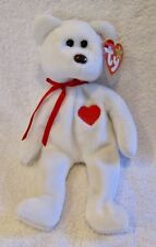 VALENTINO VALENTINE BEAR TY BEANIE BABY WITH TAG - RETIRED -1994 BRAND NEW MWMT